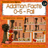 Addition Facts 0 - 5 for Fall