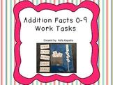 Addition Facts 0-9 Work Tasks