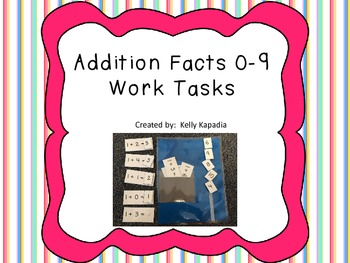 Addition Facts 0-9 Work Tasks