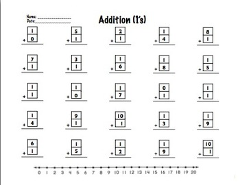 Addition Facts (1-10)