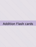 Addition Facts 1-12 Flashcards