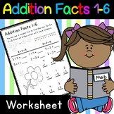 Addition Facts 1-6 Worksheet