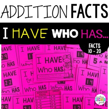 Addition Facts to 20