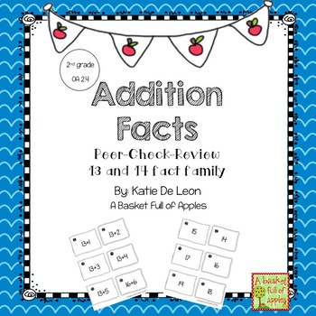 Addition Facts 13 and 14 Cooperative Learning Peer-Check-Review
