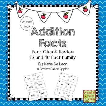 Addition Facts 15 and 16 Cooperative Learning: Peer-Check-Review