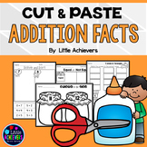 Fact Families (Addition Worksheets Cut and Paste)
