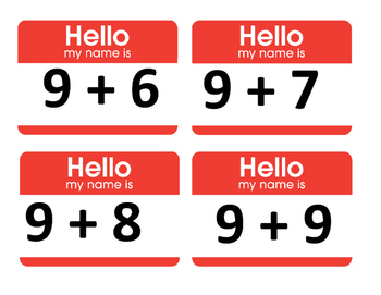 Addition Fact Name Tags: What a Fun Addition Activity!
