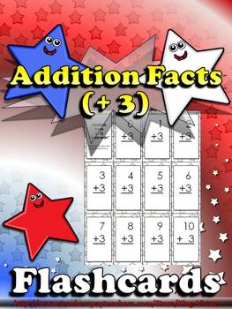Addition Facts (+ 3) Flashcards - King Virtue