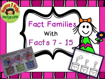 Addition Facts 7 through 15