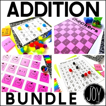 Addition Facts Activities Bundle