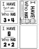 Addition Facts Activities I Have Who Has