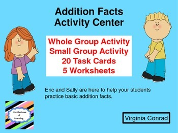 Addition Facts Activity Center and MORE