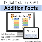 Addition Facts | Addends to 10 | Digital Tasks for Special Education