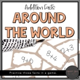 Addition Facts Around the World Game or Math Center