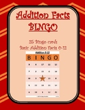 Addition Facts Bingo - Facts 0-12