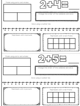 Addition Facts Booklet