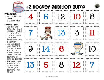 Addition Facts Bump Games Pack