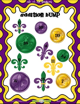 Addition Facts Bump:  Mardi Gras Theme