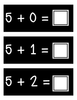 Addition Facts Cards and Flipbook