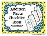 Addition Facts Checklist Book