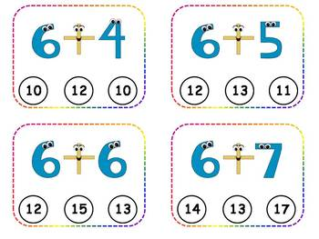Addition Facts Clothespin Task Cards