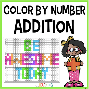 Addition Facts Color by Number Mystery Picture