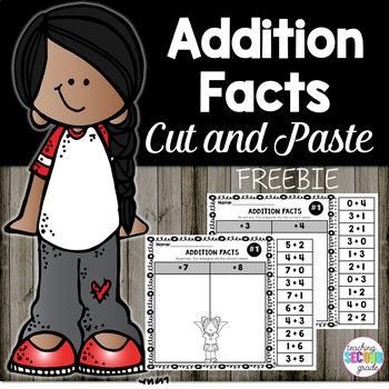 Addition Facts Cut and Paste Facts to 10