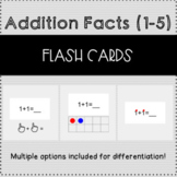 Differentiated Addition Facts Digital Flash Cards Numbers 1-5