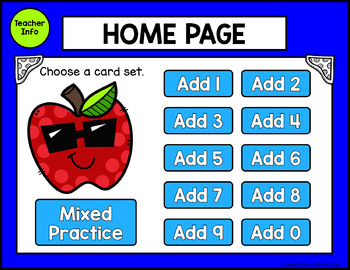 Addition Facts: Digital Task Cards for Adding 0-9 (Interactive PDF)