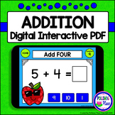 Addition Facts: Digital Task Cards for Adding 0-9 (Interac