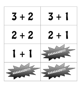 Addition Facts Flash Card Game