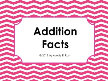 Addition Facts Flash Card Slide Show