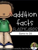Addition Facts Flash Cards - Sums within 20