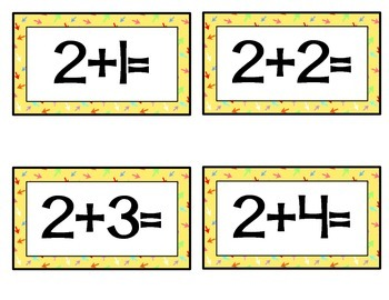 Addition Facts Flashcards