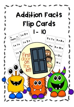 Addition Facts-Flip Flash Cards