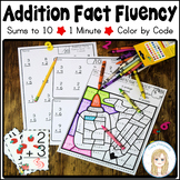 Addition Fact Fluency Pages plus Fun Back to School Color