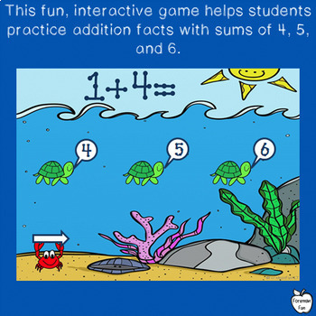 Addition Game Interactive Whiteboard ~ FREEBIE! ~ K-1st