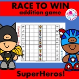 Addition Facts Game: Race to Win Superhero Edition