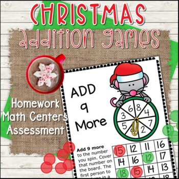 Christmas Addition Facts Games (1's to 12's) - Build Fact Fluency!