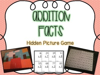 Addition Facts Hidden Picture Game