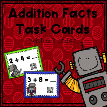 Addition Facts (Horizontal) Task Cards