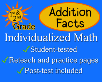 Addition Facts - Individualized Math - worksheet set / pack
