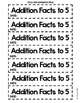 Addition Facts Interactive Notebook