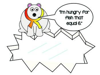 Addition Facts Math Center, Polar Bear Themed FREEBIE