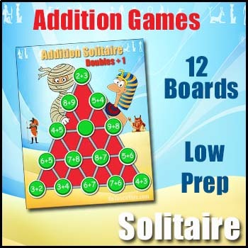 'ADDITION FACTS GAME' - A Solitaire like Addition Facts Game
