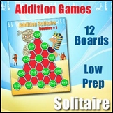 Addition Facts Games - Solitaire | Low Prep