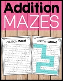 Addition Practice Mazes