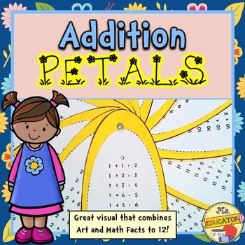 Addition Facts Petals Craftivity