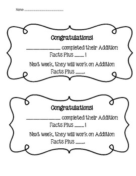Addition Facts Plus 1-12 Classroom Practice with Quizzes