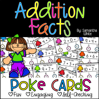 Addition Facts {Poke Cards}